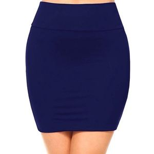 Forever 21 Navy Blue Basic Bodycon Mini Skirt S